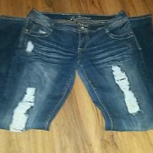 premiere  Denim - Premiere destressed looking blue jeans