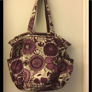 Thirty One Handbags - Thirty One Retro Metro Plum Awesome Blossom NEW