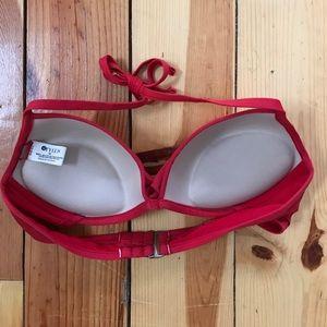 Swim - Red Push-up Bikini Top