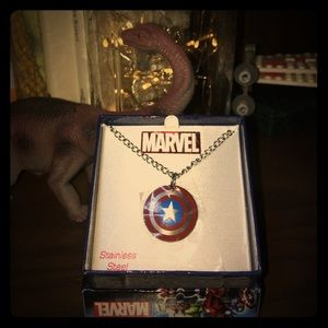 Marvel Jewelry - ‼️NWT‼️ CAPTAIN AMERICA Stainless Steel Necklace