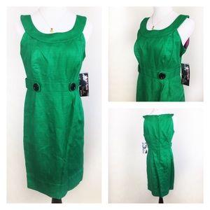 Robbie Bee Dresses & Skirts - NWT SIGNATURE BY ROBBIE BEE GREEN DRESS SZ12