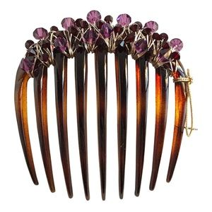 Colette Malouf Accessories - Rock Candy Crystal Round Comb.