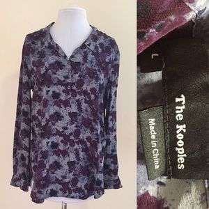 The Kooples Tops - {The Kooples} Dark Romantic Floral Button Down