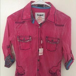 Roar Tops - NWT ROAR western shirt