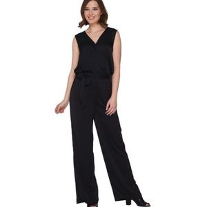 H by Halston Pants - •H by Halston• Black Tie Waist Romper