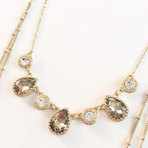 New York & Company gold layered necklace