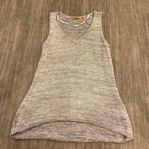 Belldini Tops - Small Knit tank in grey belldini