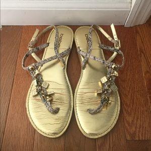 Gold Charm Bebe Sandals