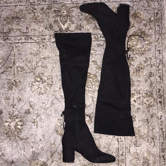 49 aldo shoes aldo thigh high black suede boots