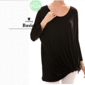 tla2 Tops - BASIC BLACK WITH A TWIST!