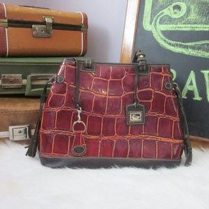 Dooney & Bourke Handbags - Dooney & Bourke Croco Tassle Bag NEW