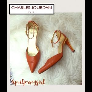 Charles Jourdan Shoes - CHARLES JOURDAN- PARIS- wrap around gold backs