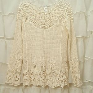 Acemi Tops - Acemi ivory lace top
