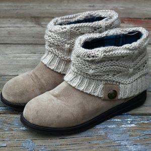 Muk Luks Shoes - Muk Luks Sweater Top Boots - 8
