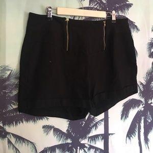Pants - Black High Waisted Skirt