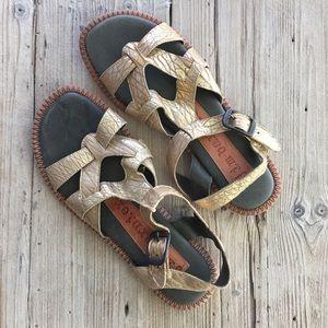 Gold Ryno Sandals