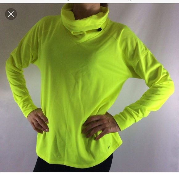 watch 8b14f 85e76 Nike neon turtleneck pullover sweatshirt