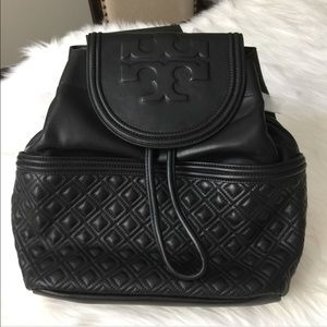 NWT Tory Burch Fleming Backpack Black
