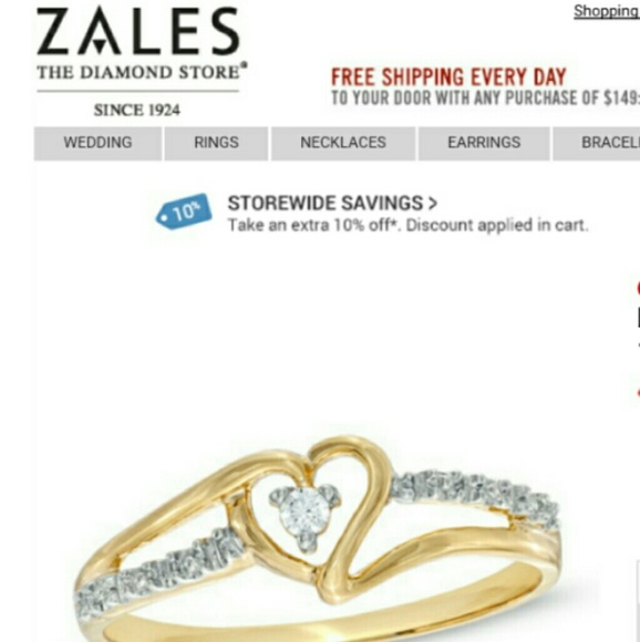Zales Diamond Accent Heart Split Shank Promise Ring from Brittany s clo