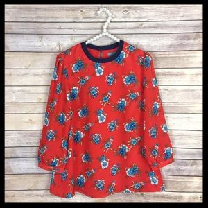 Piperlime Tops - pim + larkin // red floral print blouse piperlime