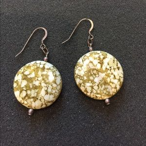 Jewelry - Handcrafted Polished Stone Disc Earrings