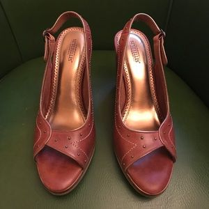 Seychelles Shoes - Seychelles open toe stacked heels
