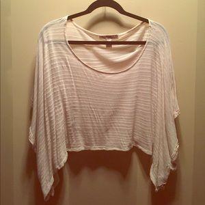 Short Sleeve Cream Crop Top