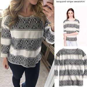 J.crew Jacquard-stripe sweatshirt Aztec print s