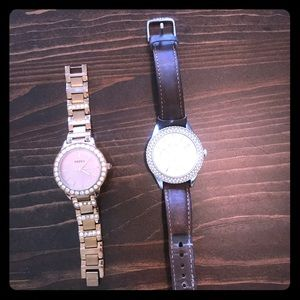 $90 rose gold fossil watch