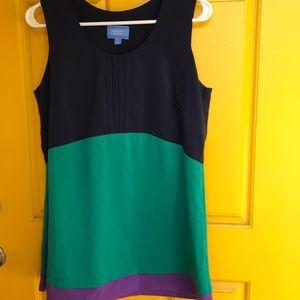Simply Vera wang color block sleeveless blouse