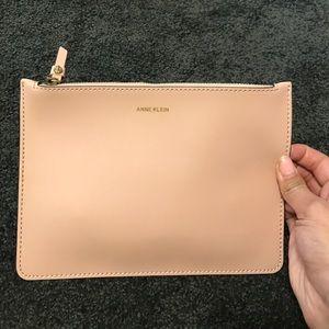 Anne Klein Handbags - Anne Klein pale pink zip pouch
