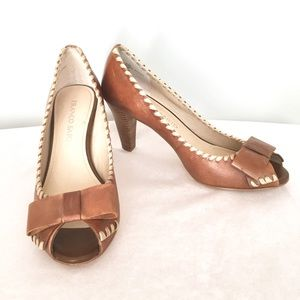 Franco Sarto Shoes - Franco Sarto Flicker peep toe leather pump heels 8
