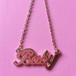 Jewelry - Rose gold baby necklace Dollskill unif