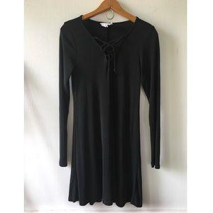 Sadie & Sage Dresses & Skirts - Black Sadie & Sage Long Sleeve Lace Up Dress