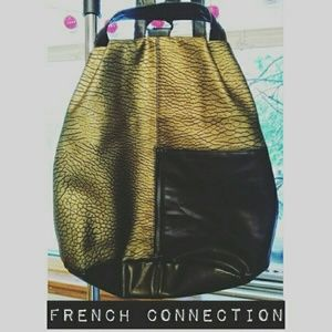 French Connection Handbags - New! French Connection Vegan Leather Backpack