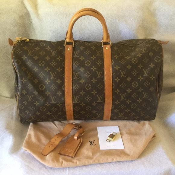 0f36a2d7335 Louis Vuitton Handbags - Louis Vuitton Mono Keepall 50 Travel Bag