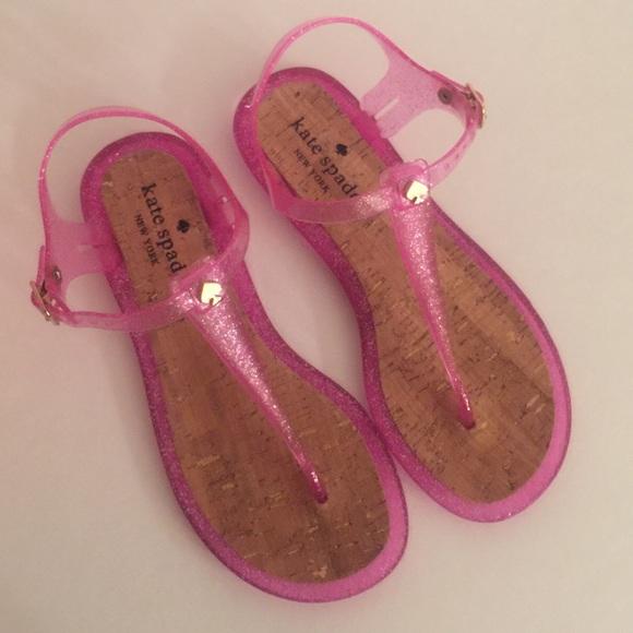 96c0ae7d0bab Kate Spade Sandals Pink  Yari  Jelly Glitter NEW