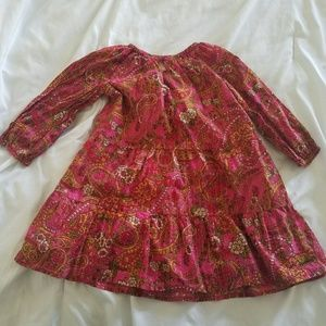 Pink Chicken Other - Toddler Girls' Tiered Paisley Dress