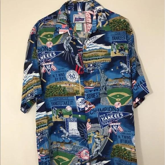 d11f05ed VTG REYN SPOONER MLB NEW YORK YANKEES Aloha shirt.  M_591f7e18d14d7b55a303f526