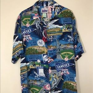 rey spooner Other - VTG REYN SPOONER MLB NEW YORK YANKEES Aloha shirt