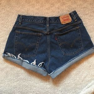 Urban Outfitters Pants - Dark Wash High Waisted Levi Shorts