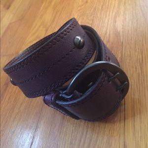 Linea Pelle Accessories - Linea Pelle leather and brass belt.