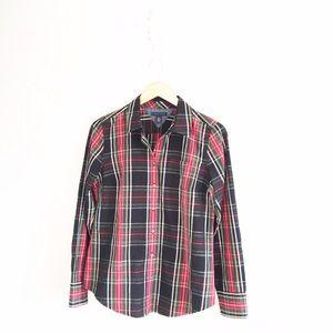Tommy Hilfiger Tops - Tommy Hilfiger Tartan Plaid Button Down Shirt