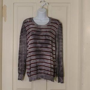 M. Rena distressed sweater