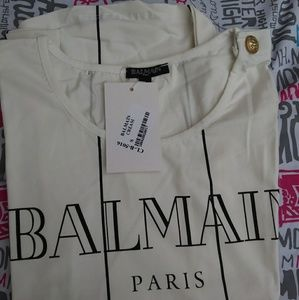 Balmain Tops - BALMAIN SLEEVELESS SHIRT