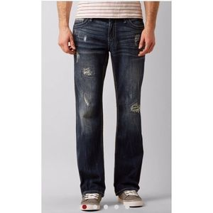 BKE Carter Boot Cut Distressed Denim Jeans