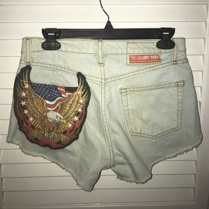 The Laundry Room Pants - NEW laundry room High waist Jean cut off shorts