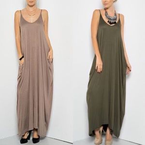 TERRI Harem Dress W/ pockets - MOCHA