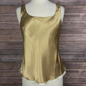 Cabernet Tops - {Cabernet} Reversible Shell Tank in Gold/White