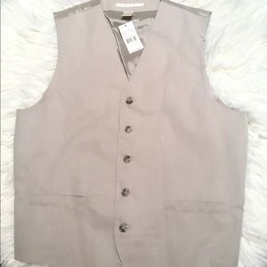 Perry Ellis Other - NWT Perry Ellis Men's Vest, Beige, Size M